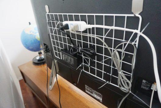 テレビ裏配線 ワイヤーネット
