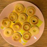 シリコン型で作った焼きドーナツ