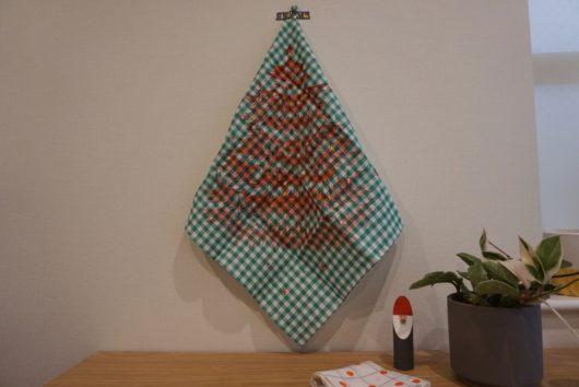 mottaクリスマスハンカチ飾る