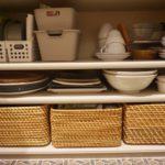 お弁当箱と水筒の収納の見直し