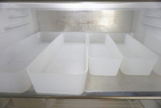 冷蔵庫 無印整理ボックス