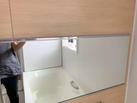 浴室 鏡 ウロコ汚れ