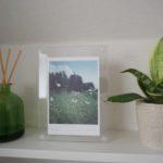 トイレに季節の草花の写真を飾る